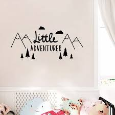 Little Adventurer Home Wall Decal Sticker Nordic Style Adventure Vinyl Wall Stickers For Kids Room Baby Room Nursery Wallpaper Aliexpress