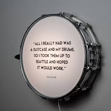 Snare Drum Wall Light With Dave Grohl Quote Etsy