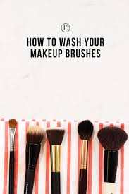 how to clean your makeup brushes the