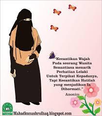 gambar kartun muslimah bercadar tentang kecantikan hati kartun