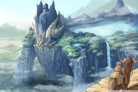 dragon castle fantasy art ultra hd