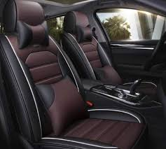 pu leather car seat cover wine black