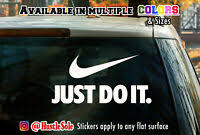Just Do It Wall Mural Vinyl Decal Sticker Decor Car Quote Sport Sneackers Nike Ebay