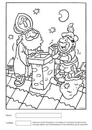 Kleurplaat Sinterklaas 2015 01 Het Strandhuis Wijk Aan Zee
