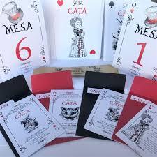 25 Invitaciones 15 Anos Carta Poker Alicia En El Pais Cumple