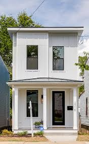 narrow lot modern farmhouse home