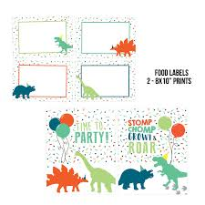 Dinosaur Party Printables Dinosaur Digital Decorations Etsy