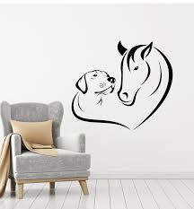 Vinyl Wall Decal Animals Horse Dog Love Pets Veterinary Clinic Sticker Wallstickers4you