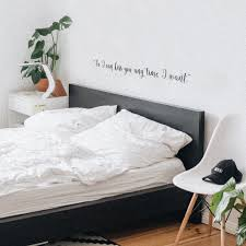 Vinyl Wall Art Decal So I Can Kiss You Anytime I Want Charming Quote 4 X 40 Ebay