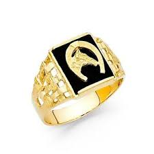 horseshoe ring solid 14k yellow gold