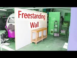 diy freestanding wall work