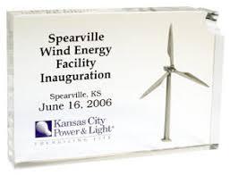 energy wind turbine awards acrylic
