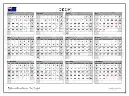 2019 calendar new zealand michel