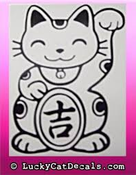 Beckoning Lucky Cat Luck Beckoning Lucky Cat Luck Blcluck 01 3 50 Lucky Cat Decals