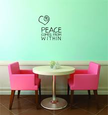 Custom Decals Prices Reduced Wall Sticker Peace Comes From Within Inspirational Life Quote Self Esteem Home Decor 20 X 30 Walmart Com