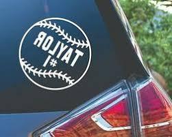 Softball Car Decal Cardecal Org