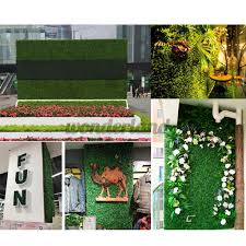 Fake Artificial Plant Grass Wall Panel Hedge Vertical Garden Mat Foliage Flower Shopee Philippines
