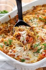 spaghetti squash cerole spend with