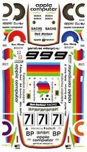 71 Apple Computer Porsche 1980 1 32nd Scale Slot Car Decals Ebay