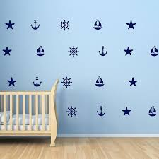 Sailboat Anchors Decals Starfish Helm Beach Wall Decals Summer Holiday Nautical Wall Stickers Vinyl Wallpaper Wall Art 625p Beach Wall Decal Wall Artwall Decals Aliexpress