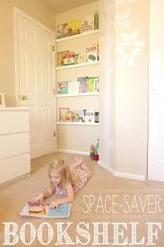 Diy Space Saver Bookshelf Yellowblissroad Com Bookshelves Kids Kids Room Bookshelves Bookshelves Diy