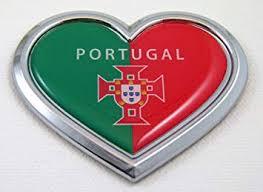 Amazon Com Portugal Heart Flag Chrome Emblem Car Decal 3d Sticker Badge Bumper Portuguese Automotive