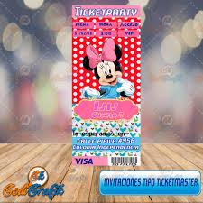 Invitacion De Cumpleanos Infantil Tipo Ticketmaster 80 00 En