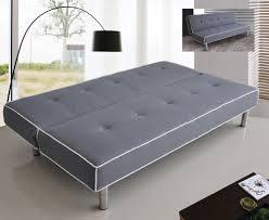 Grey futon   Futon sofa, Leather futon, Modern futon