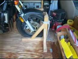 home made front wheel chock you