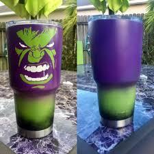 The Hulk Tumbler Custom Tumbler Cups Tumbler Cups Diy Kids Tumbler