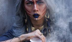 is witches style makeup being