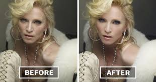 celebrities before and after photo