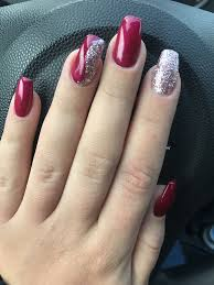 Nails Rednails Christmasnails With Images Wzory Zelowe
