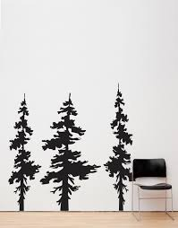 Forest Pine Trees Combo Wall Decal Living Room Decor 186 Stickerbrand