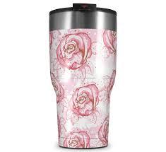 Rtic 2017 Model 30oz Tumbler Flowers Pattern Roses 13 Uskins