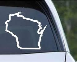 Wisconsin State Outline Wi Usa America Die Cut Vinyl Decal Sticker Decals City