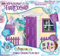 Amazon Com Cra Z Art Opening Fairy Doors Pretend Playset Purple Willow Toys Games