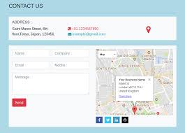 bootstrap 4 contact us form with map
