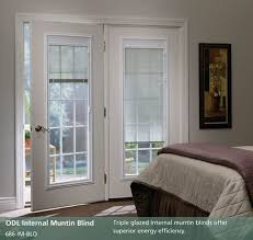 french patio doors with blinds between