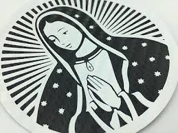 Virgen De Guadalupe Cartoon Catholic Decal Car Window Vinyl Sticker Virgin Mary Rainbowlands Lk