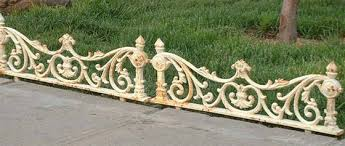 cast iron edging and border fence