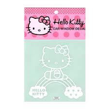 Hello Kitty 3 95 Hello Kitty Car Window Decal Sticker Car Accessory Rainbow
