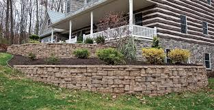 retaining walls natural stone vs