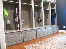 Custom Gray Mudroom Lockers For Busy Cincinnati Family Traditional Kids Cincinnati By Transformations Custom Wood Design