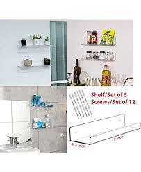 Cq Acrylic 15 Acrylic Floating Wall Ledge Shelf Floating Book Shelves For Kids Room Clear Bathroom