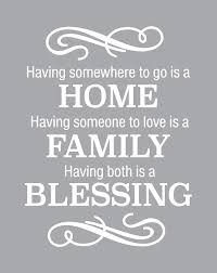 Amazon Com Home Family Blessing Wall Decal Is A Vinyl Wall Decal Displaying Having Somewhere To Go Is A Home Decal White Home Kitchen
