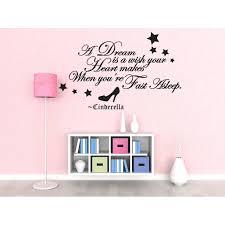 Wall Decal Art Sticker Quote Vinyl Lettering Letter Design Cinderella Saying J52 Walmart Com Walmart Com