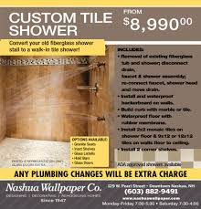 custom tile shower nashua wallpaper