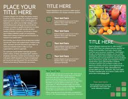 nutrition experts brochure template