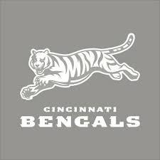 Cincinnati Bengals Nfl Team Logo 1 Color Vinyl Decal Sticker Car Window Wall